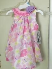 Girls Size 6 Month Floral/Butterfly Pastel Jumper/Stress Nwt $22 Retail