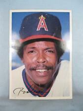 Rod Carew California Angels First Base Vintage 1981 Topps Large Baseball Card O
