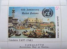 Davaar Island - Block Canaletto, Venice overpr. 25th Anniversary United Nations