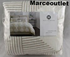 Hotel Collection Diamond Embroidery FULL / QUEEN Duvet Cover Ivory - Beige