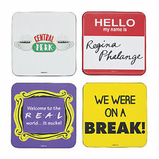 Set of 4 Friends Quotes Square Coasters - Gift Boxed - Novelty Christmas Gift