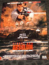Escape from Absolom folded movie promo poster from Germany