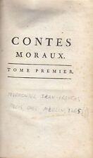 CONTES MORAUX volume I Jean Francos Marmontel 1765 Paris  Merlin