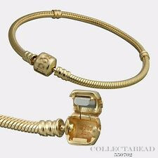 Authentic Pandora 14kt Gold Bracelet With 14kt Gold Pandora Lock 6.7 550702
