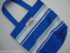Hollister Blue & White Stripe Lona Beach / Hombro / Libro Escolar Bolso BNWT