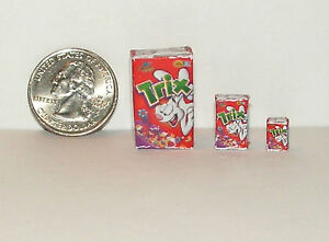 Dollhouse Miniature Food Breakfast Cereal 1:24 Half Scale tx E51A Dollys Gallery