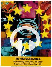 ☆☆  ADVERT U2 ZOOROPA ALBUM RARE MAGAZINE CD MC A4 Poster ☆☆