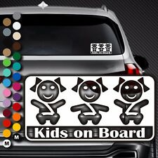 A92# Aufkleber Baby on Board Kind an Bord Tour Kinder Kids in Auto Buggy Sticker