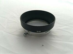 Canon S-50 Original Hood Manual FD S50 50mm f1.4 Rangefinder Lens