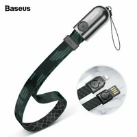 Baseus USB Cable Portable Lanyard Charger Cable for iPhone Xs Max X 8 7 6 Plus