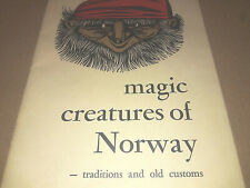Magic Creatures Norway Traditions & Old Customs Folklore Book Booklet Vtg 1960