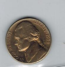 1954 S over D  USA Jefferson Nickel 5 cent Silver coin