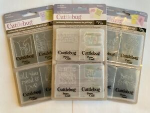 Cuttlebug Embossing Folders CHOOSE YOUR OWN Many Styles NEW
