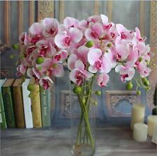 Pink UP Butterfly Orchid Silk Flower Bouquet Phalaenopsis Wedding Home Decor