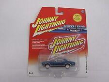 1/64th 1968 Mercury Cougar GT-E Blue Johnny Lightning Muscle Car #52 Diecast