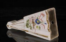Antique Chinese Multicolored Hand Painted Porcelain Fan / Wall Vase, Hanged Vase
