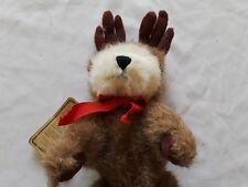 "90/98 Boyds Bears Bearwear Jointed 10"" Reindeer Bear"