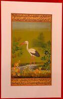 Hand Painted Flamingo Bird Birds Miniature Painting India Artwork Paper Nature
