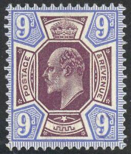 136 - 9p Edward VII Fault Free Hinged Single