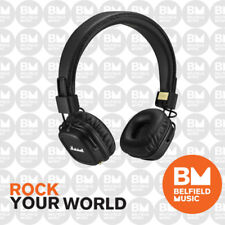 Marshall Major II BT Headphones Black w/ Bluetooth - BNIB - Belfield Music