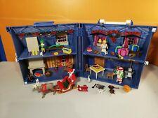 sympa maison transportable noel 5755  playmobil ( pere noel  ) 1043