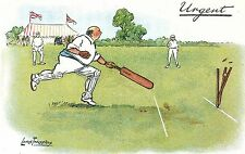 POSTCARD COMIC   CRICKET  Related   Urgent    REPRODUCTION   Thackeray