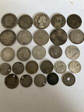 More details for scrap silver coins job lot. 72.95 gramms