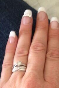 genuine diamond engagement ring