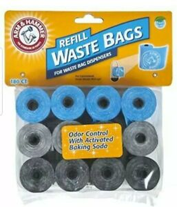 Arm & Hammer Disposable Waste Bag Refills Assorted 180-pack