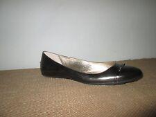 JIMMY CHOO Wicker Metallic Anthracite Ballet Flat Logo Band Cap Toe Shoes 41 EU