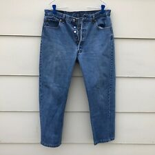 Vtg Levi's 501 Button Fly jeans men's tag 36 x 30 measures 34 x 27 USA MADE
