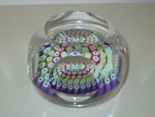 WHITEFRIARS paperweight Millefiori Facette Coupé Papier Poids 1979 Date canne