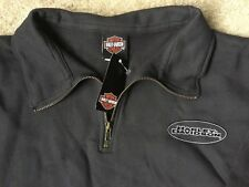Harley Davidson 1/4 Zip Gray Sweatshirt Nwt Women's Medium