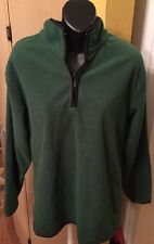 Men's Fleece Jacket, Size Small, Half-Zip, Green (preowned)