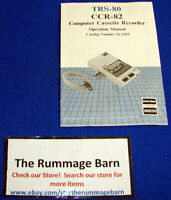 TANDY Radio Shack TRS-80 CCR-82 Computer Cassette OPERATION MANUAL ----- 26-1209