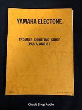 Original Yamaha Electone Organ Trouble Shooting Guide / Manual - PAS A & B