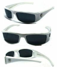 New BioHazard Mens UV400 Sunglasses + Pouch - White BZ1