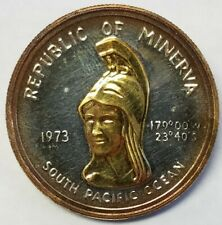 1973 Minerva $35 GOLD 999 SILVER South Pacific Proof Coin