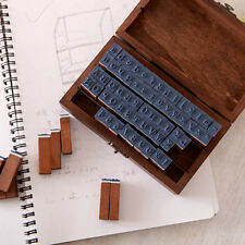 70pcs Multi-purpose Number Alphabet Letter Wood Rubber Stamp 1 Set Wooden Box