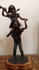 """Boy and Girl Bronze Sculpture Leyendecker """"Sneek A Peek"""" 16/100 Signed 23.5""""X12"""""""
