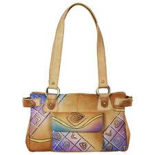 Craft Damen Handtasche Tasche Schultertasche Leder Unikat mehrfarbig 64-08 Art