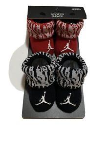 New Nike Air Jordan Jumpman Red White Black baby infant 2 pair booties