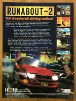 Runabout 2 PS1 Playstation 1 2000 Vintage Print Ad/Poster Official Racing Rare!