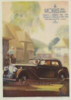 ORIGINAL ADVERTISING   1930'S MORRIS BIG SIX & FORD V8