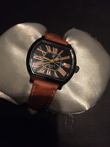 Ladies Dress Watch Lancaster Made In Italy Registered Design Geniune Ostrich Ban