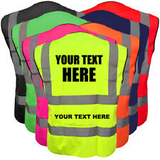 Customised Hi Vis Vest Personalised Printed High Viz Safety Vest EN471 Waistcoat