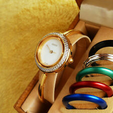 Gucci 11/12.2 18K Gold Plated Women's Bangle Watch in Mint Condition - 26 mm
