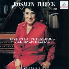 ROSALYN TURECK : LIVE IN ST. PETERSBURG - ALL BACH RECITAL / CD