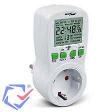 GreenBlue Temporizador digital 3680W Minutero 12/24horas Programador Iluminación