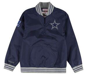 Dallas Cowboys Mitchell & Ness Mens 1/4 Zip Nylon Pullover Windbreaker Jacket